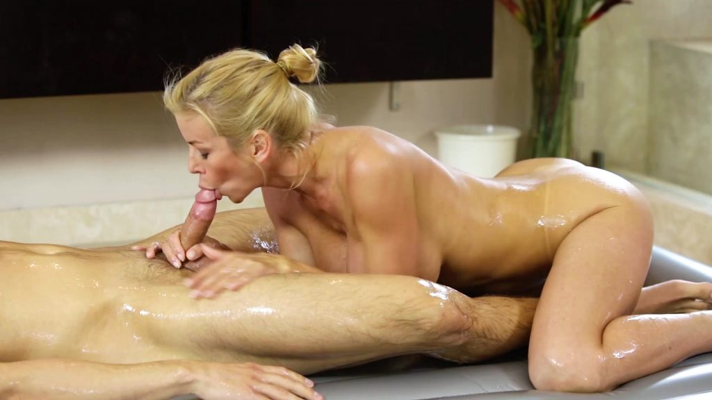 Alexis Fawx Sucking and Riding Cock